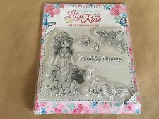 Lily Rose Summer's Day Clear Stamp Set 6 Reusable Stamps Craft Cards Art