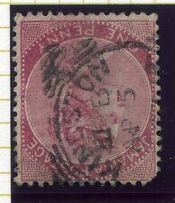 Jamaica; 1890s Clásico temprano QV corona CA problema usado valor 1d.