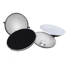 Photo Studio Flash Beauty Dish 42cm S type Honeycomb + White Diffuser A7N9 X6D0