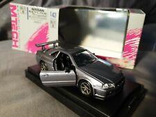 Rare MTech Ebbro Nissan Skyline GT-R R34 V spec silver grey 1/43