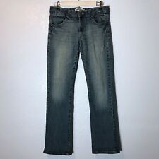 Paper Denim & Cloth Sz 29(8) Jeans Straight Leg Distressed Areas Holes