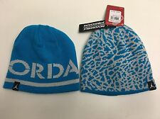 Reversible Girls NIKE AIR JORDAN Beanie Hat Kids Size 8/20 Blue/silver New!!