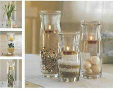 """Partylite Naturally Modern Votive Set P88695 2 Pc 8.25"""" Glass Candle Holder New"""