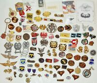 LOT OF MILITARY Pins Medals & Organizational PINS Medals & other Items