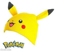 Berretta Pokemon Pikachu Beanie with Ears Winter Hat cappello ufficiale