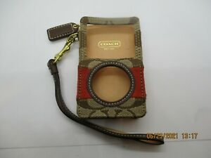 Vintage Coach leather small Cell phone/ holder  w/strap LOTR2