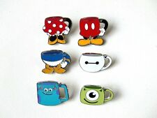 Disney Pin - HKDL - Hidden Mickey Mugs Series (Complete 6 pins) rare