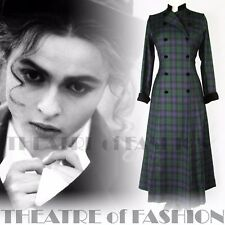 VINTAGE LAURA ASHLEY COAT TARTAN RIDING DRESS 12 10 8 6 VICTORIAN VAMP EDWARDIAN