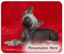 Chinese Crested blk Personalized Mouse Pad