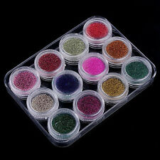12 MIXED COLOUR BALL NAIL ART BEADS CAVIAR BEAD METAL BALLS CRAFT NAILS