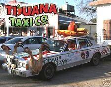 Mexico - TIJUANA TAXI- Souvenir Flexible Fridge Magnet