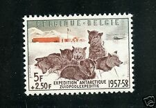 Belgium Complete MNH Single #B605 Dogs and Antarctic Camp Stamps