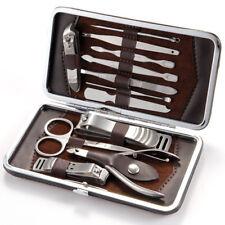 Manicura Pedicura Cuidado de las Uñas Conjunto de 12 piezas de Cortador Cutícula Tijeras Kit De Estuche De Regalo