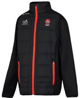 Oneills Eddie 71 DERRY Fleece Padded Jacket Mens Black UK Size S Small *REF89
