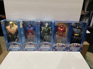 """Batman The Flash Atom Green Arrow Aquaman 10"""" Justice League DC Mattel Lot"""