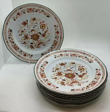 Wedgwood Kashmar Set 8 Salad Plates Red Black Yellow Flowers 1969 Small Dinner