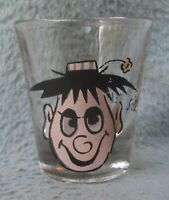 Funny Face Painted Eyes S-S Delightful Vintage Shot Glass