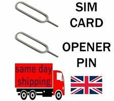 2 SIM CARD TRAY EJECT REMOVAL PIN TOOL Apple iPhone 5 6 7 iPad Samsung HTC  SONY