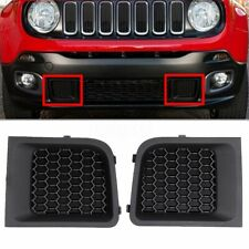 Pair FRONT LOWER BUMPER GRILLE GRILL INSERT BEZEL FOR JEEP RENEGADE 2015-2017