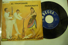 "LOS MACHUCAMBOS"" EL PROFESSOR/PERVERSITA'-disco 45 giri DECCA It 1963"""