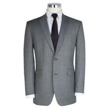 Traje de chaqueta de hombre grises de poliéster