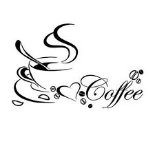 Coffee Cup DIY Removable Art Vinyl Sticker Decal Wall Mural Kitchen Home Decor