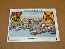 CHROMO #29 NOUVELLE-ECOSSE HALIFAX CANADA CHOCOLAT PUPIER AMERIQUE NORD 1952