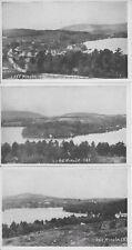 Lake Winola, Overfield Township in Wyoming County PA Three Postcard Set unused
