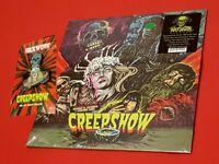 Creepshow Soundtrack Vinyl LP & Father's Day Cake Print Pin Gary Pullin Mondo