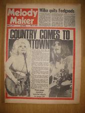 MELODY MAKER 1977 APR 9 DOLLY PARTON EMMYLOU HARRIS