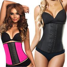 3e6bc0d3836 Ann Chery 2023 Workout Latex Waist Cincher 3 Hooks Faja Corset Shapewear  Pink Neon 3xl (