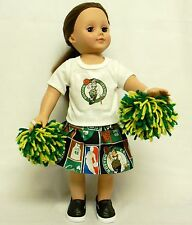 Boston Celtics Theme Outfit For 18 Inchl Doll