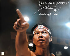 """Bolo Yeung """"Chong Li"""" Autographed YOU ARE NEXT Bloodsport 16x20 Photo ASI Proof"""