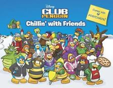 DISNEY CLUB PENGUIN Chillin' with Friends softcover children's book w/ postcards