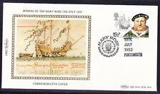 """Great Britain 1982 Marine Heritage Sinking Mary Rose """"Benham SILK""""  Cover"""
