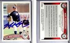 Mike Montgomery Signed  2011 Topps Pro #40 Card Northwest Arkansas Naturals Auto