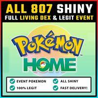 Pokemon Home ALL 807 SHINY FULL Living Dex + Event Pokemon | FASTEST DELIVERY!!
