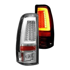 For Chevy Silverado 3500 01-06 Recon 264373CL Chrome Fiber Optic LED Tail Lights