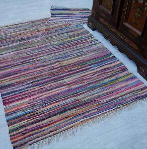 Fleckerl KUFSTEIN multicolor viele Größen wählbar Handweb Flicken Teppich