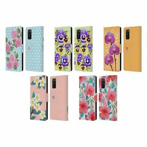 HEAD CASE WATERCOLOUR FLOWERS 2 LEATHER BOOK CASE & WALLPAPER FOR SAMSUNG 1