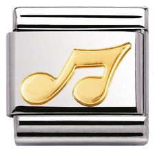 BRAND NEW GENUINE NOMINATION CLASSIC 18ct Gold Musical Note CHARM 03011702