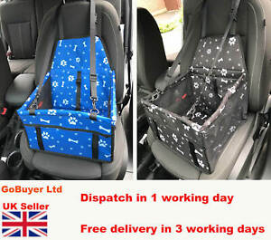 Dog Car Seat Booster / Dog Car Booster Seat  Foldable - Seat Belt - Pet Carrier