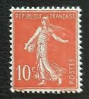 France 1906 Semeuse n°135, 10c rouge, inscriptions maigres, NEUF** LUXE Cote=45€
