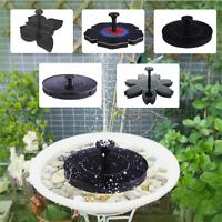 Rose Solar Power Pump Bird Bath Fountain Water Floating Pond Garden Patio Decor