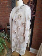 Dries Van Noten Silk Chiffon Flower Bead Embellished Ricci Coat US4 FR36 New NWT