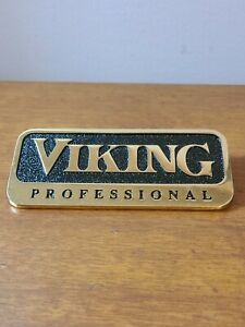 "Viking Professional OEM 4.5"" Metal Emblem Logo Badge Nameplate gold chrome"