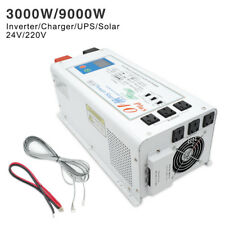 3000W 9000W Peak 24V to 240V Pure Sine Wave Power Inverter UPS Solar 40A Charger