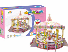 3D Puzzle Building Set, Merry Go Round With Motor Lights, Sound , And Movement