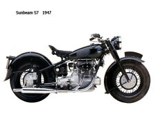Motorcycle Canvas Picture Sunbeam S7 1947 Canvas 16x12 inch