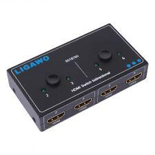 Ligawo 6518760 HDMI Switch Umschalter bidirektional Duplex 1x2/ 2x1 Neu & OVP
